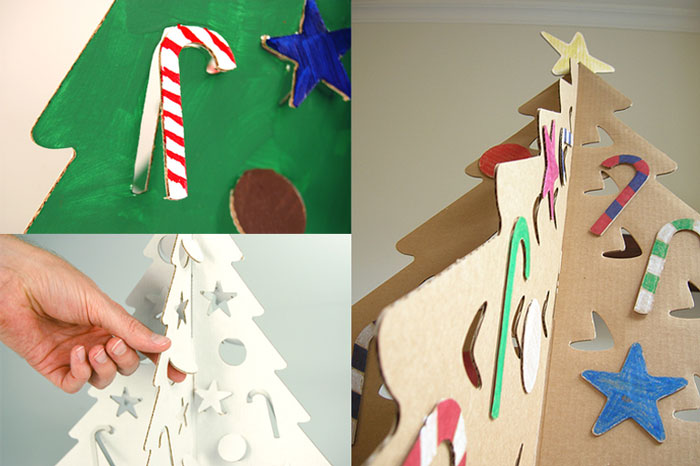 Arbol de navidad con cajas de carton pino de navidad de for Arbol de navidad con cajas de carton