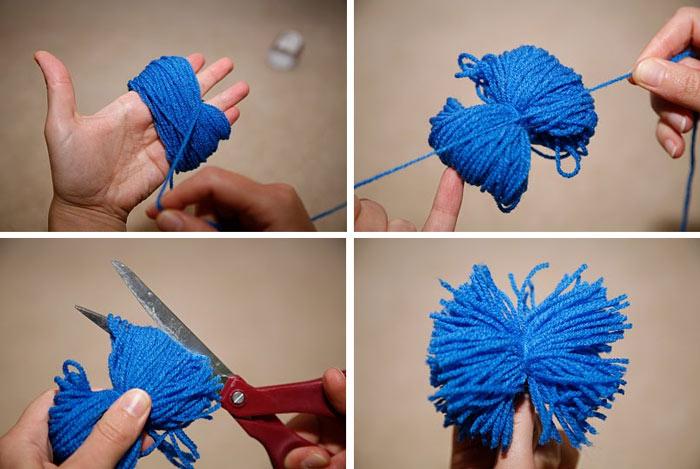 C mo decorar los regalos con pompones - Para hacer pompones de lana ...