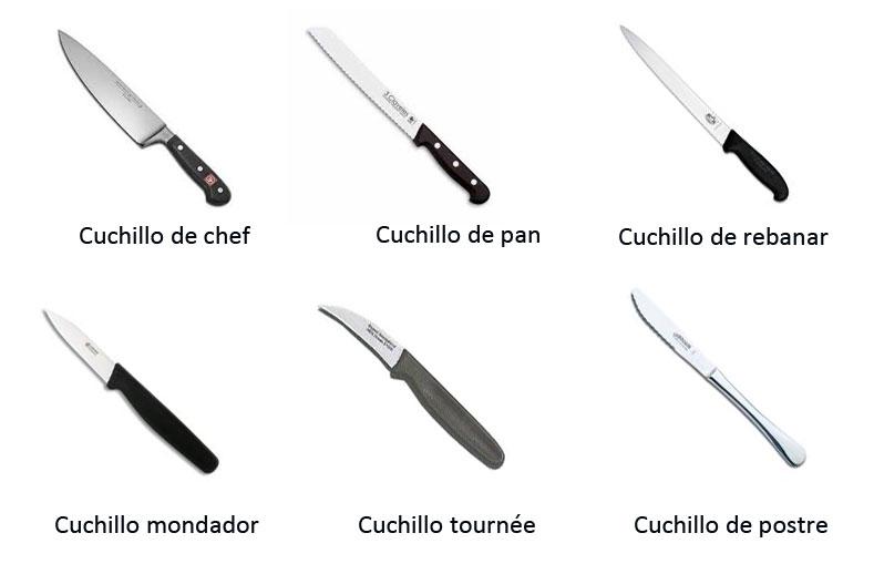 Cuchillos b sicos para la cocina for Clases de cuchillos de mesa