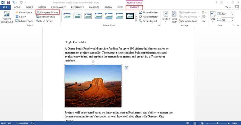 Herramientas de Word para editar imágenes