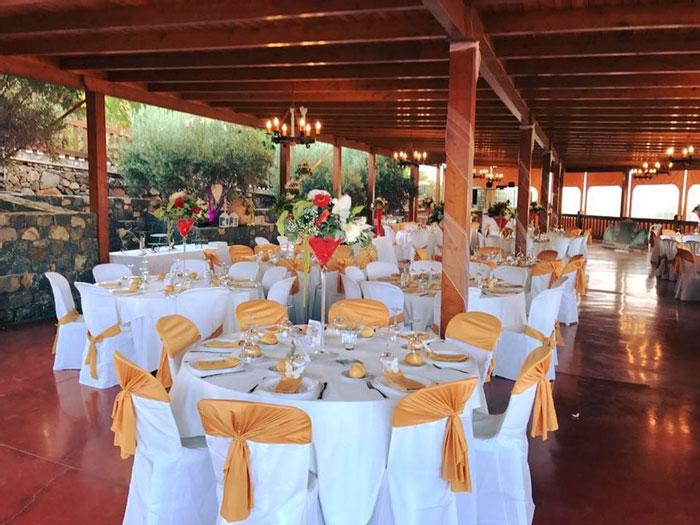 Banquete para una boda en Otoño