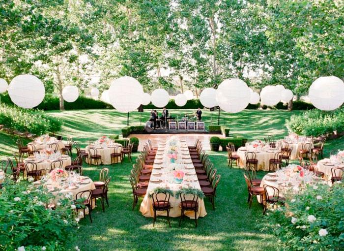 Banquete para una boda en Primavera