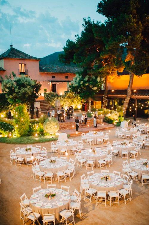 Banquete para una boda en Verano