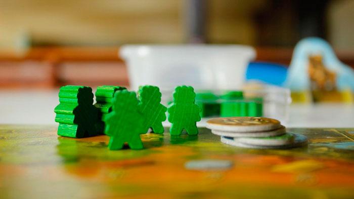 Fichas de un juego de mesa