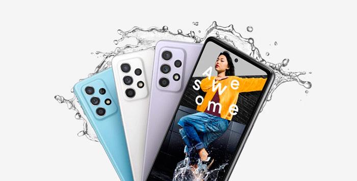 Camara de los celulares Samsung A