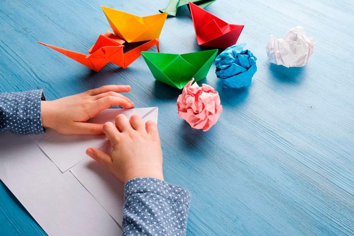 Barquitos origami