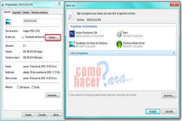 Cómo asociar archivos a un programa predeterminado en Windows 7. Asociar tipos de archivo a un programa en windows 7