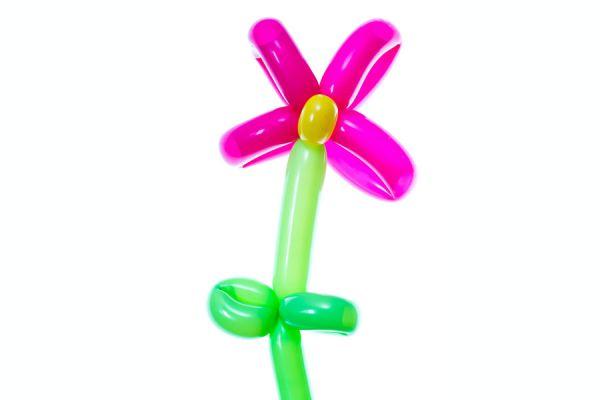 Cómo hacer un globo en forma de flor