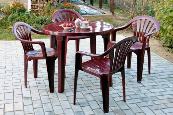C mo conservar los muebles de pl stico del patio - Muebles de patio ...