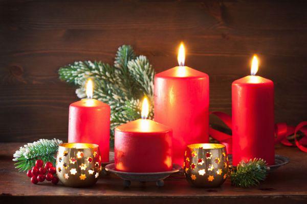 Ideas para decorar velas en navidad for Velas navidenas