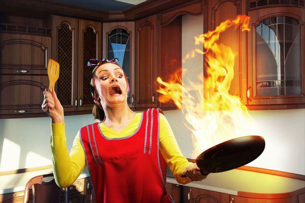 Cómo evitar incendios en la cocina