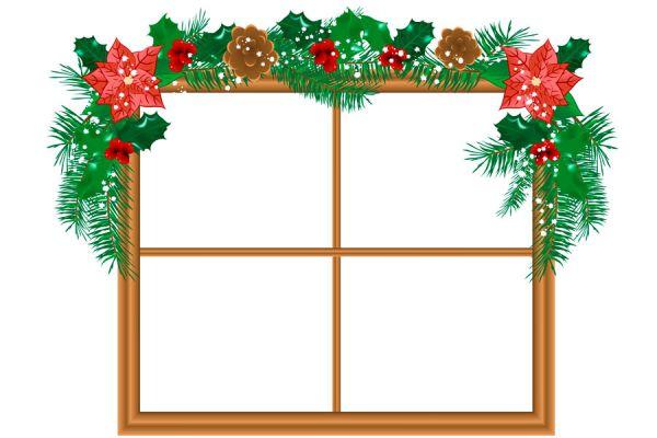 cmo hacer guirnaldas de navidad para decorar las ventanas