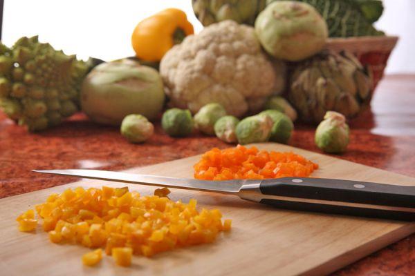 Guia para reconocer los distintos tipos de cortes de las verduras. Formas de cortar los vegetales. Tipos de cortes para las frutas y verduras
