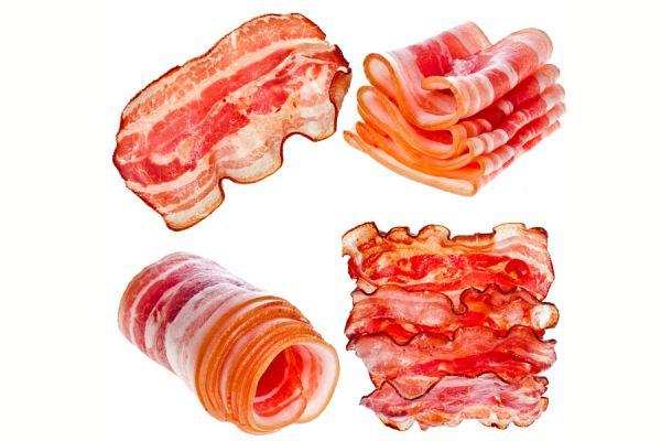 Receta y preparación para crear canastas comestibles de tocino. cómo servir ensaladas con canastas de tocino o jamón.
