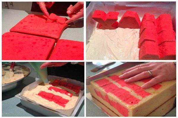 Torta con nombre dentro. Cómo preparar un pastel con nombres y letras. Pastel de cumpleaños con el nombre dentro. Torta con nombre