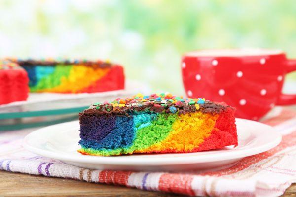 Cómo preparar pasteles de colores. Recetas para hacer pasteles con colores. Preparación de cheesecake de colores. bizcochuelo casero de colores