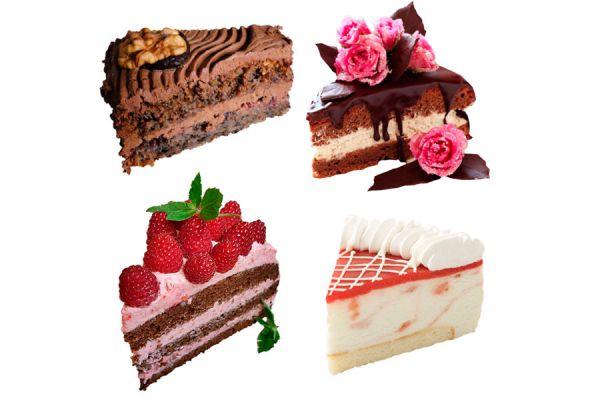 4 recetas para hacer pasteles de distintos colores. Cómo preparar pasteles coloridos. bizcochuelos caseros de distintos colores.
