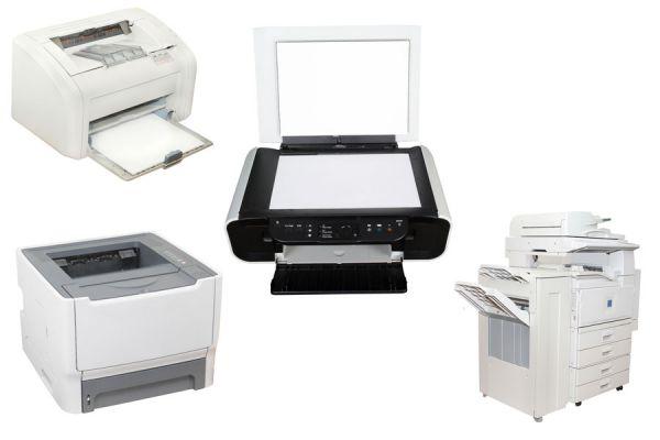 Los diferentes tipos de impresoras. Ventajas y desventajas de cada tipo de impresora. Características de las impresoras laser y chorro de tinta