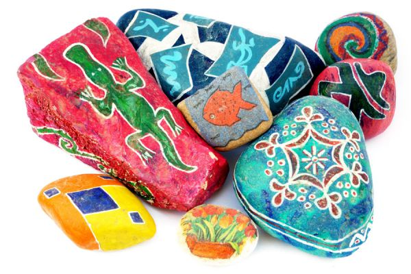 ideas para una decoracin con piedras cmo pintar las piedras y usarlas en decoracin