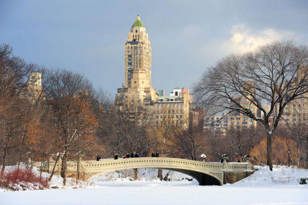 Atractivos turísticos de Nueva York en invierno. Cómo recorrer New York en invierno. Lugares para conocer de Nueva York con nieve.
