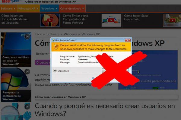 Cómo quitar el mensaje para confirmar cambios en Windows 7. Desactivar el mensaje de confirmar cambios al instalar un programa en Windows