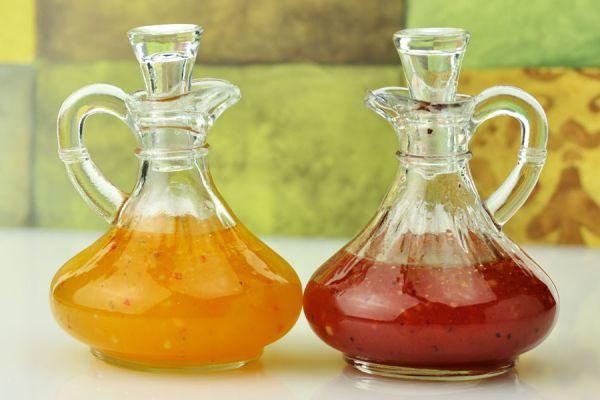 Ingredientes para preparar 7 vinagretas distintas. Recetas caseras para hacer vinagretas. 7 vinagretas caseras y sabrosas
