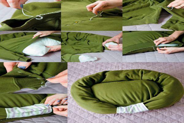 Guía para crear una cama para tu perro o gato con una sudadera. Cómo reutilizar una sudadera para hacer una cama para tu mascota