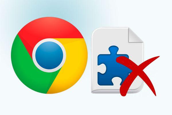 Desinstalar extensiones en Chrome. Quitar complementos en google Chrome. Deshabilitar extensiones de chrome. Eliminar plugins en chrome
