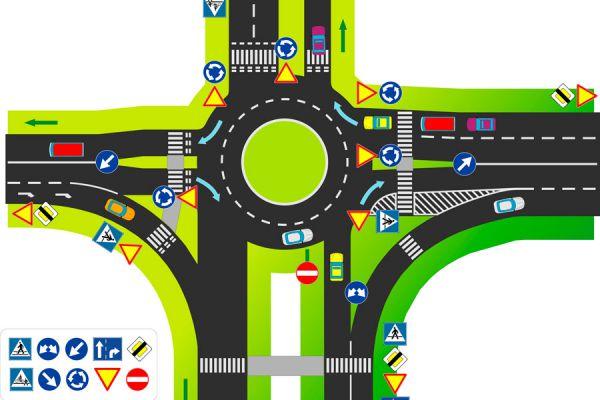 Cómo circular por una rotonda. Reglas de transito para cidurlcar por una rotonda. Cómo ingresar a una glorieta. Cómo conducir en rotondas y glorietas