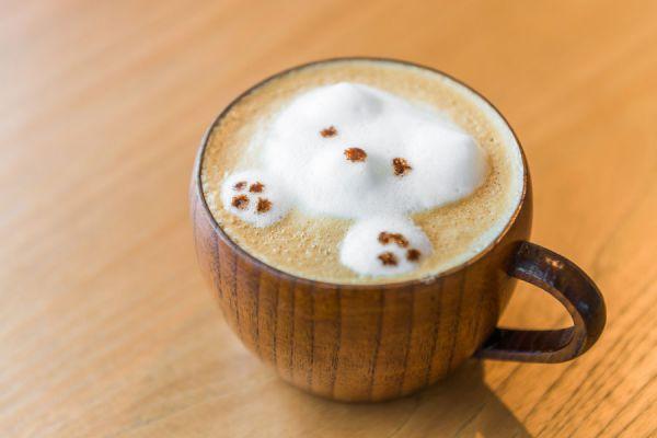 Taza de café con espuma de leche