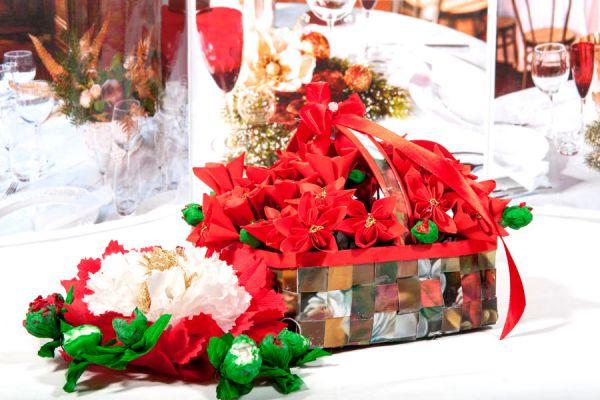 Cómo hacer una cesta de ornamentos de navidad. Cesta navideña con adornos para el árbol