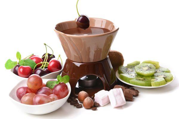 Receta básica de fondue de chocolate. Fondue de chocolate en microondas. Fondue de chocolate en olla de cocción lenta