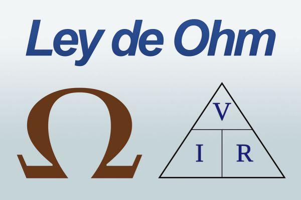 Símbolo y fórmula de la ley de Ohm