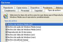 Como asociar archivos para que Windows Media los abra automáticamente