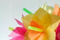 Cómo hacer arreglos florales con sorbetes