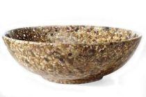 Cómo hacer un bol con piedras naturales