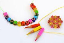Cómo hacer aros, collares y anillos con lápices de colores