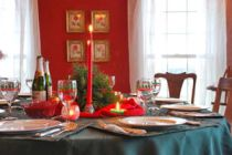 Cómo elegir el mantel para la mesa de Navidad