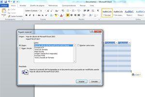 Ilustración de Copiar una tabla de Excel en Word