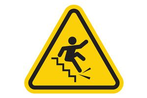 Ilustración de Cómo evitar accidentes en la escalera
