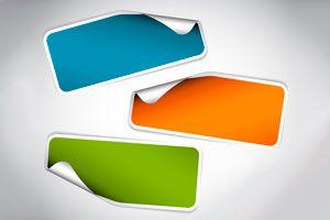 Ilustración de Quitar el Pegamento de las Etiquetas Adhesivas