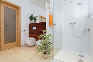 Ilustración de Cómo decorar el baño con plantas