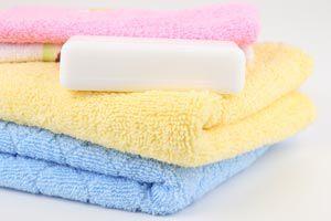 Ropa de algodón bien lavada y planchada