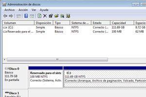 Como cambiar el tamaño de una partición en Windows Vista