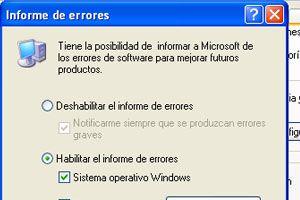 Ilustración de Como deshabilitar el envío de informe de errores en Windows XP
