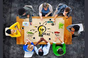 Ilustración de Cómo hacer una Tormenta de Ideas. Conceptos fundamentales para desarrollar esta técnica con éxito.