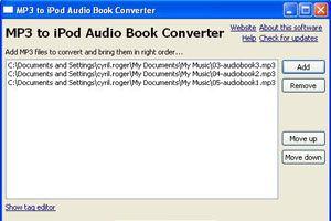 Cómo convertir archivos Mp3 a M4B para iPod