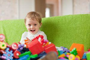 Cómo guardar los juguetes de los niños.