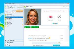 Ilustración de Como hablar por teléfono por Skype