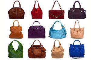 Carteras y bolsos de cuero de distintos modelos y colores